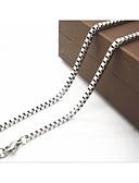 billige Trendy belter-Herre Kjedehalskjeder - Titanium Stål Sølv Halskjeder Smykker Til Julegaver, Daglig, Avslappet