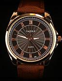 abordables Relojes de Vestir-YAZOLE Hombre Reloj de Pulsera Reloj Casual Piel Banda Encanto Negro / Marrón / SSUO 377