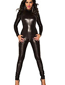 cheap Zentai Suits-Animal More Costumes Cosplay Costume Women's Sexy Uniforms More Uniforms Carnival New Year Festival / Holiday Leather Patent Leather Outfits Black Solid Colored