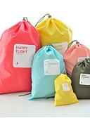 abordables Pantalones para Mujer-4 Piezas Bolsa de Viaje / Estuche con cordón / Organizador para viaje Impermeable / A prueba de polvo / Almacenamiento para Viaje Ropa Nailon