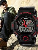 baratos Relógio Esportivo-SKMEI Homens Relógio Esportivo Impermeável Silicone Banda Amuleto Preta