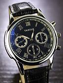 abordables Relojes de Vestir-YAZOLE Hombre Reloj de Pulsera Gran venta Piel Banda Encanto Negro / Marrón / SSUO 377