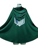 billiga Zentai-Inspirerad av Attack on Titan Eren Jager / levi ackerman Animé Cosplay-kostymer cosplay Pull Tryck Långärmad Kappa Till Herr / Dam