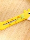 hesapli Çocuk Saatleri-zürafa kalem sanat bıçak (1 adet rastgele renk)