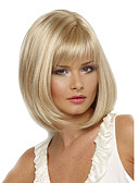 ieftine Quartz-Peruci Sintetice Pentru femei Drept Blond Tunsoare bob / Cu breton Păr Sintetic Rezistent la Căldură / Partea laterală Blond Perucă Scurt Fără calotă Blond
