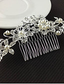 cheap Fashion Headpieces-Women's Floral Elegant & Luxurious Crystal Imitation Pearl Imitation Diamond Hair Comb