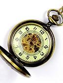 preiswerte Taschenuhr-Herrn Taschenuhr / Mechanische Uhr Transparentes Ziffernblatt Legierung Band Charme Gold / Automatikaufzug