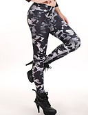 baratos Leggings para Mulheres-Mulheres Diário Tamanhos Grandes Básico Legging - Geométrica, Estampado Cintura Média