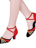olcso Fűzők és korszázsok-Női Latin cipők Csillogó flitter / Flitter / Szintetikus Szandál / Magassarkúk Otthoni Flitter / Rátétek / Glitter Kubai sarok Szabványos