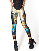 abordables Leggings para Mujer-Mujer Estampado Legging - Galaxia, Estampado Media cintura