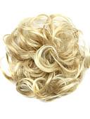 זול חולצה-פאות סינתטיות / שיניון (פקעת) בגדי ריקוד נשים מתולתל / קלאסי תספורת שכבות שיער סינטטי תסרוקת גבוהה פאה קצר בלונדינית / מסולסל
