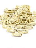 halpa Kukkaistyttöjen mekot-Hiuspidennysvälineet Aluminium Klipsit Klipsit 80PCS/PACK Musta Vaaleahiuksisuus Tumman ruskea