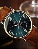 preiswerte Modische Uhren-YAZOLE Herrn Damen Paar Armbanduhr Quartz Schwarz / Khaki 30 m Wasserdicht Analog Charme Modisch - Schwarz / weiss Schwarz / Grün Schwarz und Blau