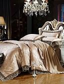 preiswerte Sexy Körper-Bettbezug-Sets Luxus Seide / Baumwolle Jacquard 4 StückBedding Sets / >800 / Twin-Size umfassen: 1 Bettlaken 1 Bettbezug und 1pillowcase umfasst die anderen Größen: 1 Bettlaken 1 Bettbezug, 2-teilig