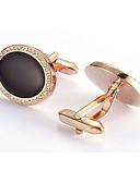 povoljno Muški satovi-Muškarci Mandzsettagombok Posao Ležerne prilike Broš Jewelry Crn Za