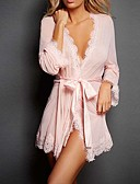 cheap Pajamas & Robes-Women's Super Sexy Ultra Sexy Robes Lace Lingerie Nightwear Solid Colored