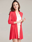 cheap Women's Sweaters-Women's Long Sleeves Cardigan - Solid, Cut Out Pleated