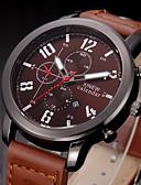 abordables Relojes de Hombre-Hombre Reloj de Pulsera Calendario Piel Banda Casual Negro / Acero Inoxidable / SSUO 377