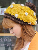 cheap Fashion Hats-Women's Vintage Ski Hat - Polka Dot / Beige / Yellow / Pink / Fall / Winter