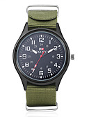 cheap Quartz Watches-Men's Military Watch Wrist Watch Quartz 30 m Water Resistant / Water Proof Fabric Band Analog Charm Black / Green - Black Green One Year Battery Life / SODA AG4