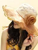 abordables Sombreros de mujer-Mujer Estampado, Algodón Sombrero Floppy - Vacaciones Jacquard / Bonito / Dorado / Beige / Azul / Gris
