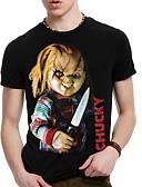billige T-shirts og undertrøjer til herrer-Herre Trykt mønster Sport T-shirt Bomuld