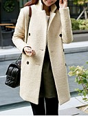 cheap Women's Downs & Parkas-Women's Chic & Modern Overcoat - Solid Color, Modern Style Stand / Winter