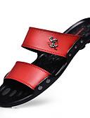 זול מכנסיים ושורטים לגברים-בגדי ריקוד גברים לטקס קיץ כפכפים & כפכפים הליכה שחור / חום / אדום