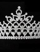 povoljno Haljine za male djeveruše-Umjetno drago kamenje / Legura tijare / Trake za kosu s 1 Vjenčanje Glava