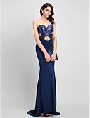 cheap Prom Dresses-Mermaid / Trumpet Sweetheart Neckline Sweep / Brush Train Sequined / Jersey Formal Evening Dress with Sequin by TS Couture®