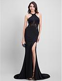 abordables Vestidos de Noche-Trompeta / Sirena Joya Larga Jersey Evento Formal Vestido con Encaje por TS Couture®