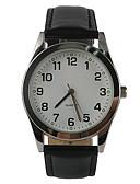 billige Trendy klokker-Herre Armbåndsur Quartz Svart Hverdagsklokke Analog damer Sjarm Fritid Mote - Svart