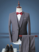ieftine Rochii de Petrecere de Nuntă Lichidare-Bărbați Costum Muncă Simplu(ă),Mată Manșon Lung Primăvară toamnă-Regular Poliester