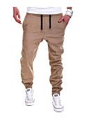זול מכנסיים ושורטים לגברים-בגדי ריקוד גברים כותנה ישר מכנסי טרנינג צ'ינו מכנסיים אחיד