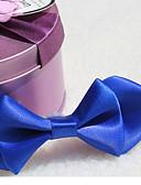 baratos Infantil Tiaras-Para Meninas Para Meninos Gravatas e Laços Todas as Estações Misto de Algodão Preto Azul Escuro Roxo Vermelho Azul Real