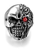 ieftine Tricou-Bărbați Inel - Teak Craniu Punk, European 8 / 9 / 10 Argintiu Pentru Halloween / Cadou / Zilnic