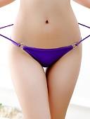זול תחתוני נשים-בגדי ריקוד נשים אחיד - סקסית חוטיני / תחתונים סקסיים כותנה / ניילון