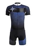 abordables Ropa de Triatlón-ILPALADINO Hombre Manga Corta Maillot de Ciclismo con Shorts - Azul Oscuro Bicicleta Shorts/Malla corta Camiseta/Maillot Sets de Prendas,