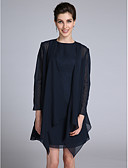 cheap Mother of the Bride Dresses-Long Sleeves Chiffon Wedding Party Evening Women's Wrap With Draping Coats / Jackets