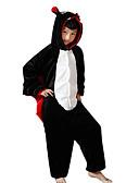 hesapli Kadın Şapkaları-Çocuklar için Kigurumi Pijama yarasa Onesie Pijama Fanila Tüylü Kumaş Siyah Cosplay İçin Erkek ve kızlar Hayvan Sleepwear Karikatür Festival / Tatil Kostümler
