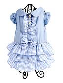 tanie Suknie i sukienki damskie-Psy Sukienka Ubrania dla psów Kolorowy blok Zielony / Niebieski / Różowy Bawełna Kostium Dla zwierząt domowych Damskie Codzienne