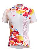 baratos Relógios da Moda-TASDAN Mulheres Manga Curta Camisa para Ciclismo Floral / Botânico Moto Camisa / Roupas Para Esporte, Secagem Rápida, Resistente Raios