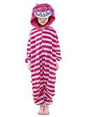 hesapli Göbek Dansı Giysileri-Çocuklar için Kigurumi Pijama Kedi Onesie Pijama Kostüm Kadife Mink Pembe Cosplay İçin Hayvan Sleepwear Karikatür cadılar bayramı Festival / Tatil / Yılbaşı