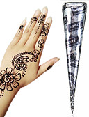 cheap Cocktail Dresses-1 pcs Henna Cones Temporary Tattoos Non Toxic / Large Size / Tribal Body Arts Face / Hand