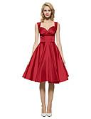 זול שמלות NYE-כל העונות חוטי זהורית ספנדקס ללא שרוולים מקסי עד הברך לב (סוויטהארט) אחיד סקסי וינטאג' מתוחכם Party יום יומי\קז'ואל שמלה נדן שחורה וקטנה