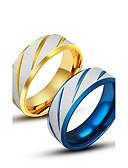 abordables Corbatas y Pajaritas para Hombre-Hombre Anillo de banda - Titanio Acero Diseño Único, Moda 7 / 8 / 9 / 10 / 11 Dorado / Azul Para Casual