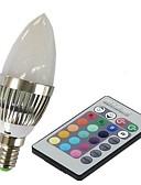 olcso Maxi ruhák-3 W 100-230 lm E14 Okos LED izzók C35 1 LED gyöngyök Nagyteljesítményű LED Távvezérlésű RGB 85-265 V / 1 db. / RoHs