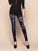 abordables Panties-Mujer Rasgado Legging - Un Color, Agujero Media cintura