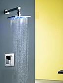 preiswerte Exotische Herrenunterwäsche-Duscharmaturen Badewannenarmaturen Waschbecken Wasserhahn - Moderne Modern Chrom Wandmontage Keramisches Ventil