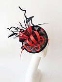cheap Mother of the Bride Dresses-Flax / Feather Fascinators with 1 Wedding / Special Occasion Headpiece